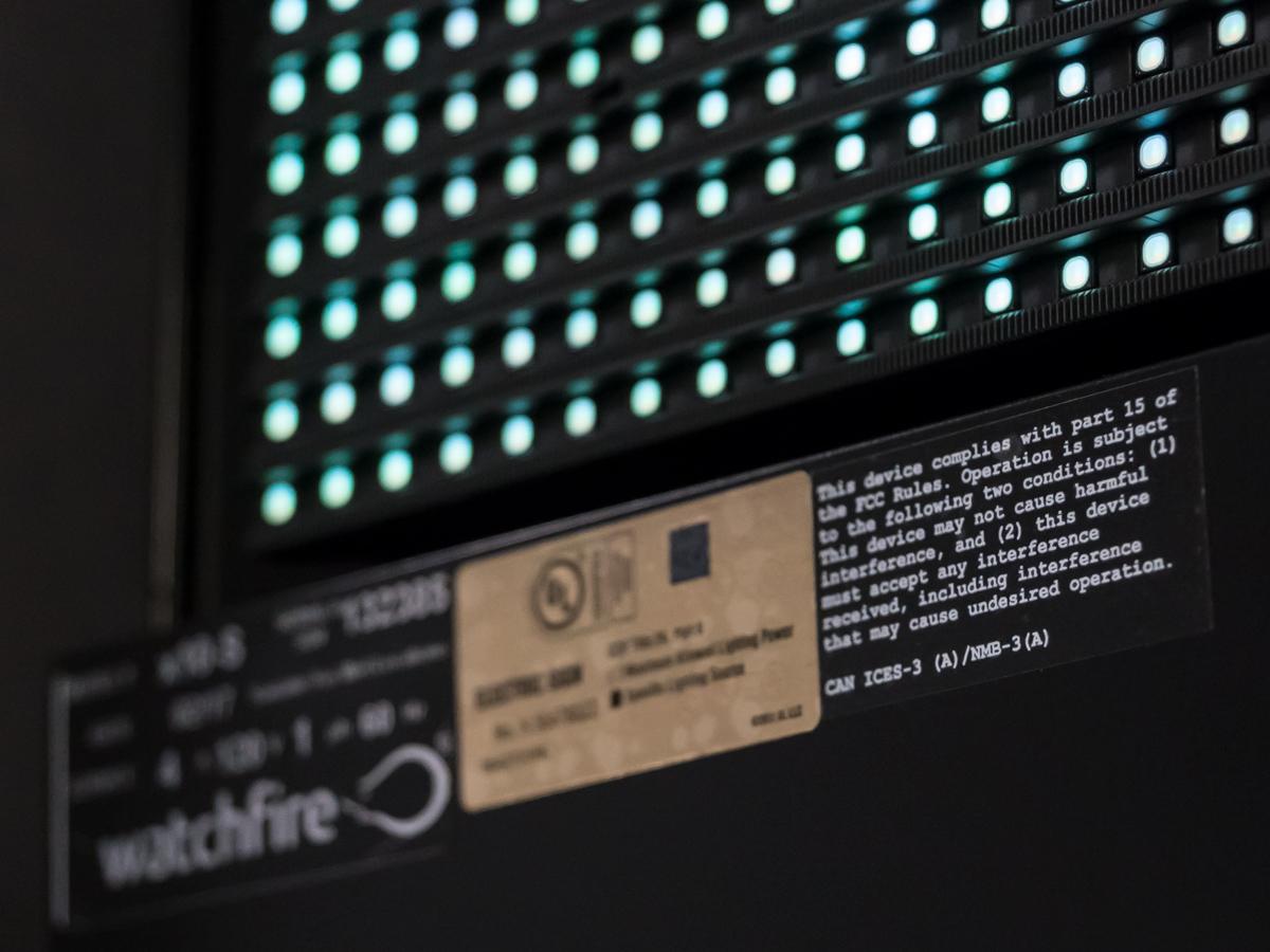 FCC Label on LED sign