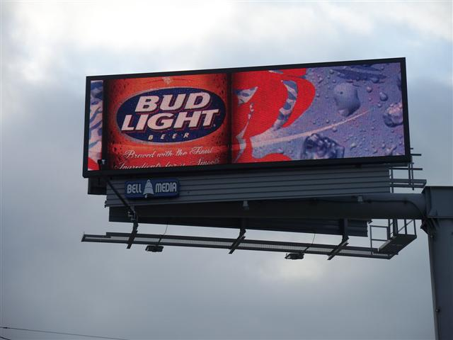 Budweiser was an early adopter of digital billboards.