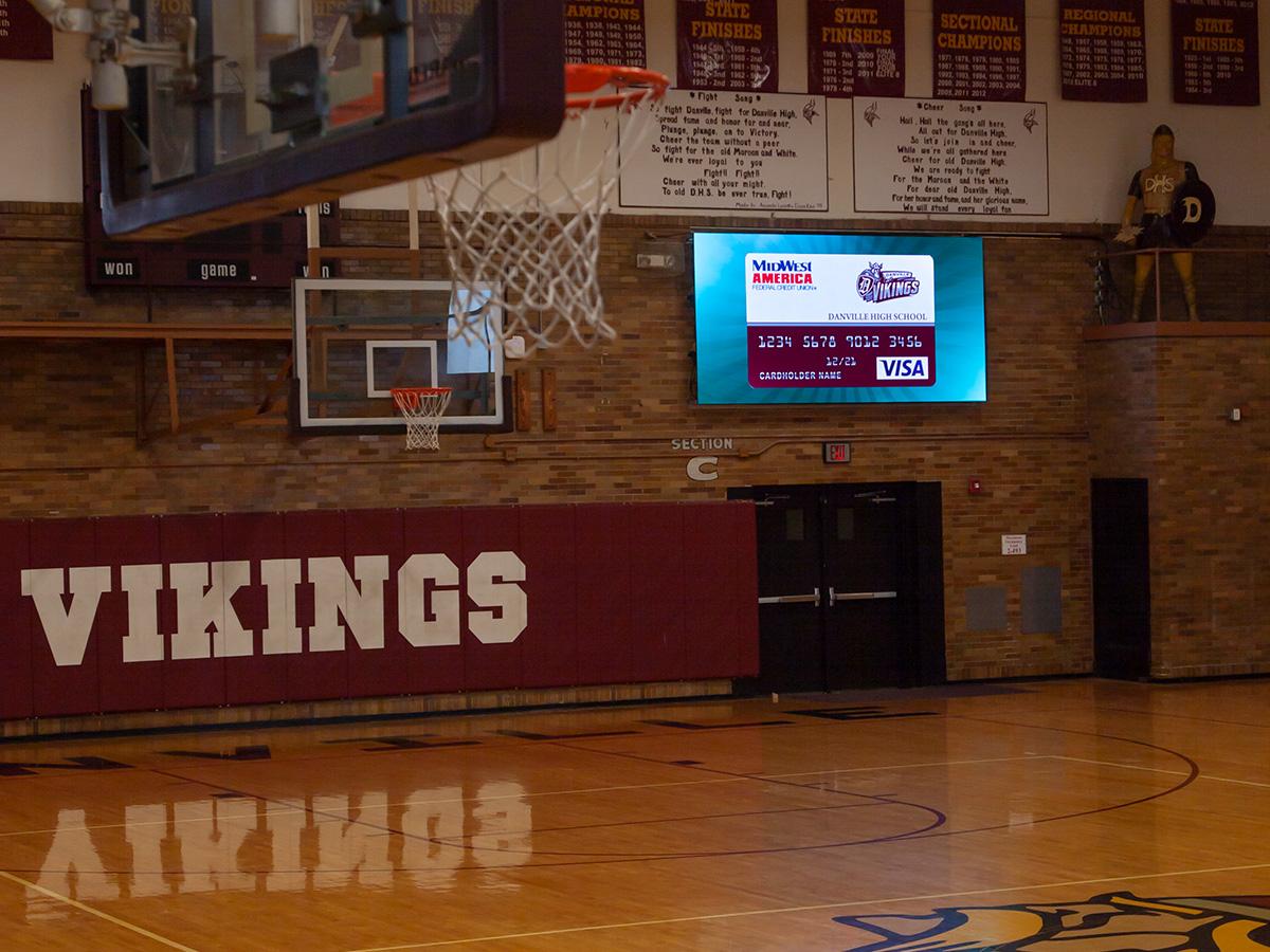 """Danville High School Gym; Indoor 4mm, 5'8"""" x 11'4"""", Danville, IL"""