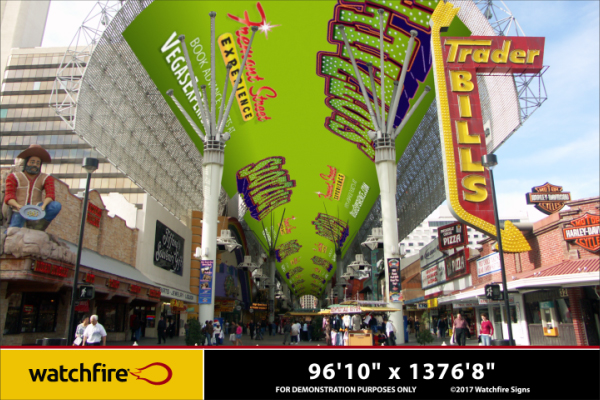 Fremont Street Experience; Rendering of the Renovation by Watchfire Signs