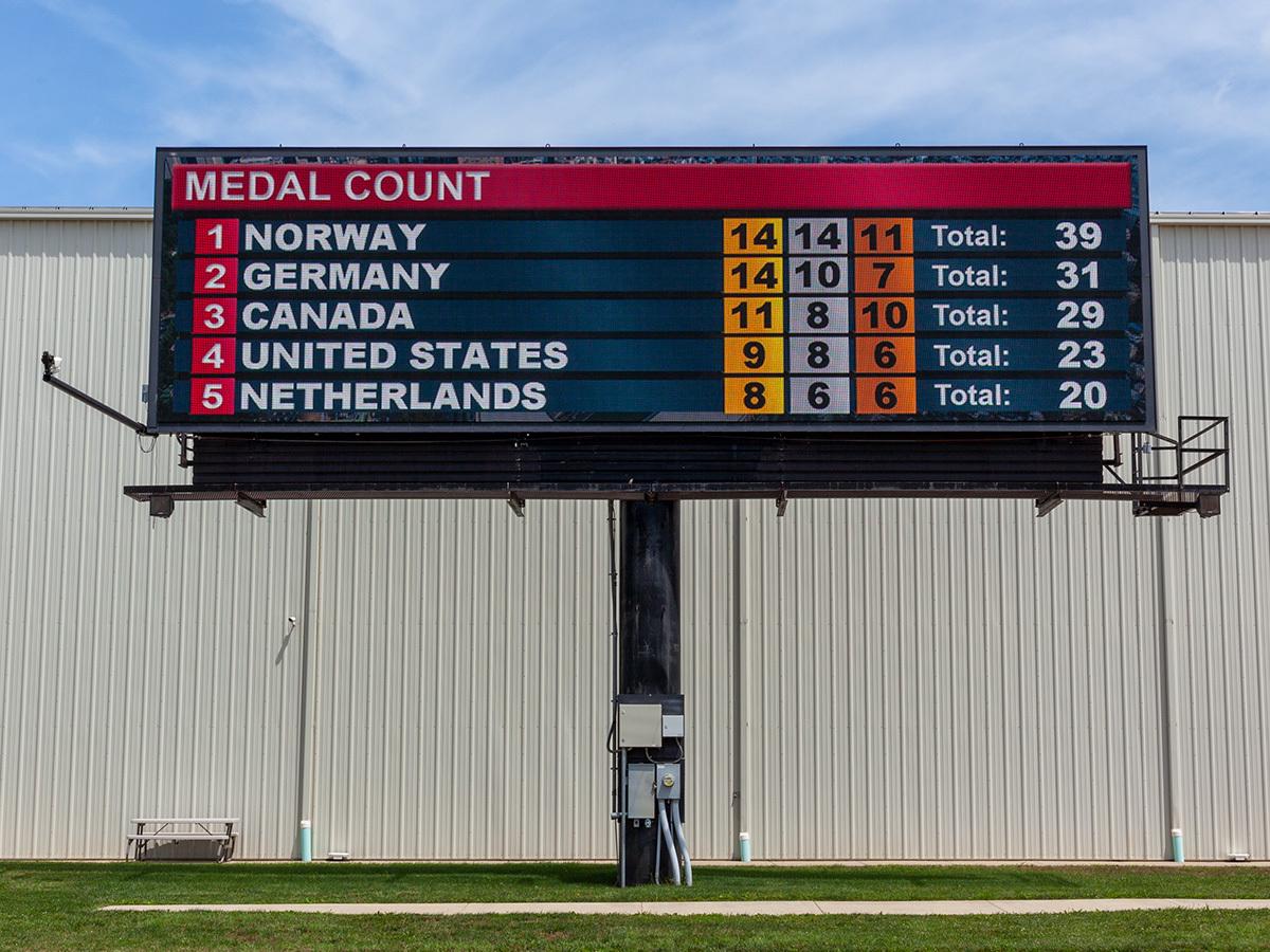 Medal Count Widget - Watchfire Digital Billboard
