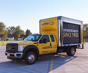 Watchfire's demo truck
