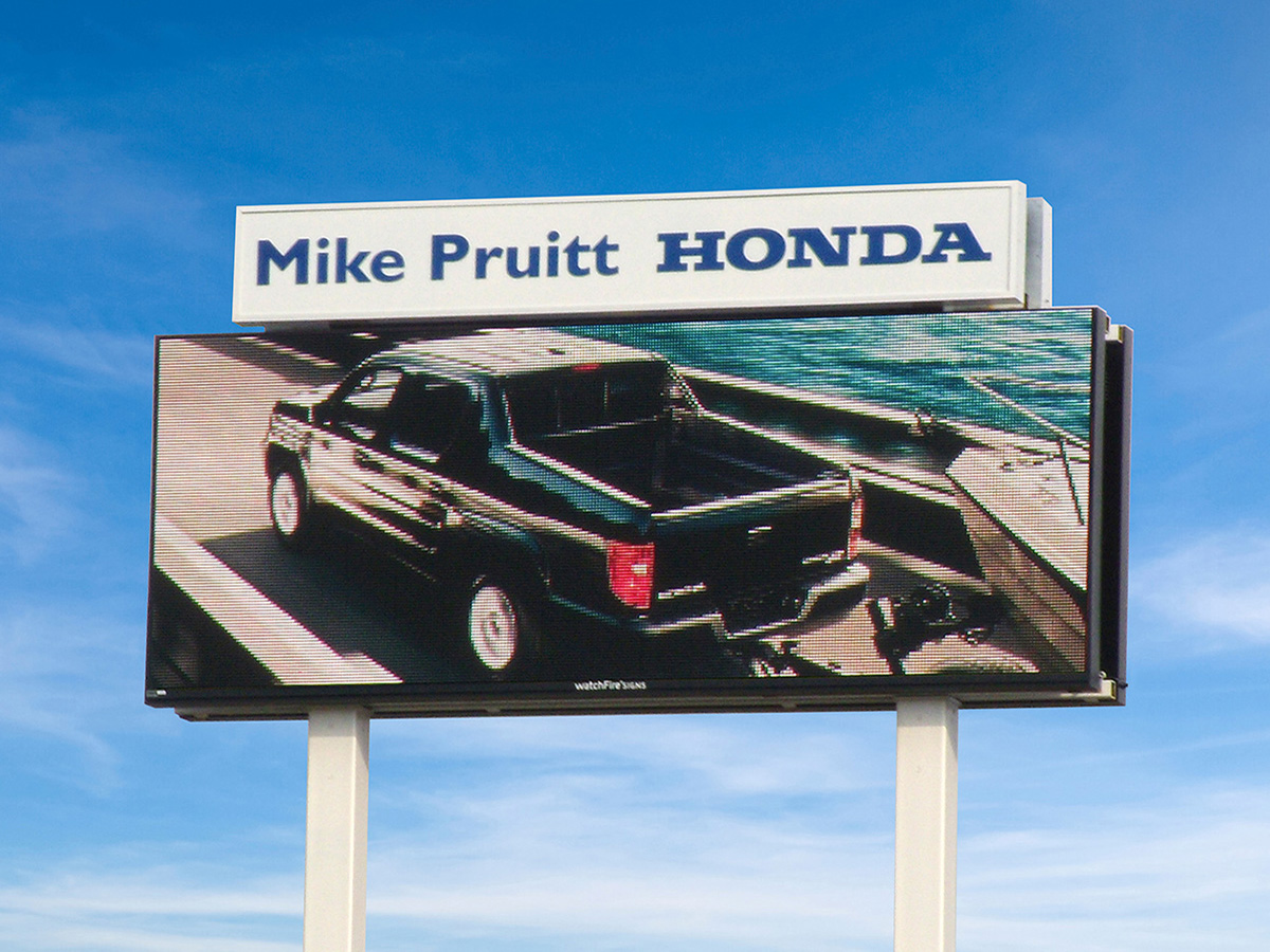 Digital Billboard - Honda Dealership - Mike Pruitt