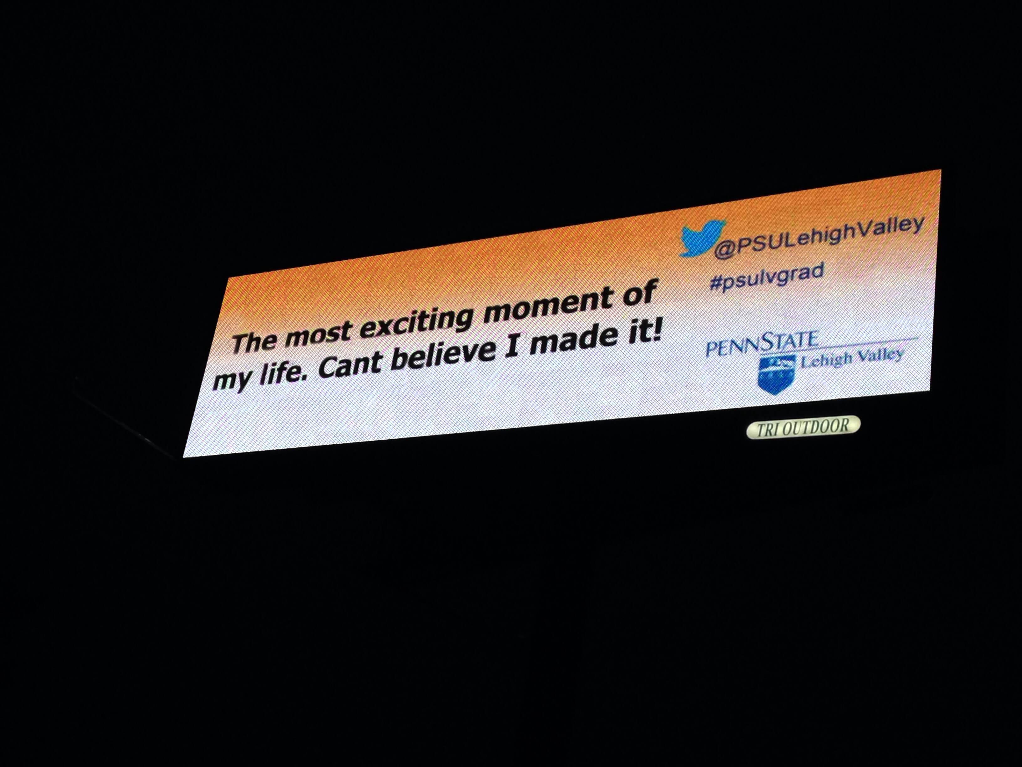 Penn State Live Tweets on Watchfire Digital Billboard