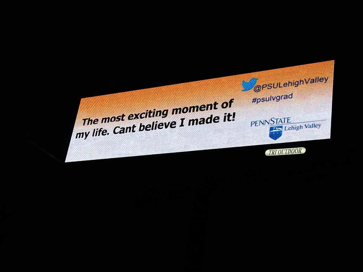 Penn State Live Tweets on Watchfire Digital Billboard