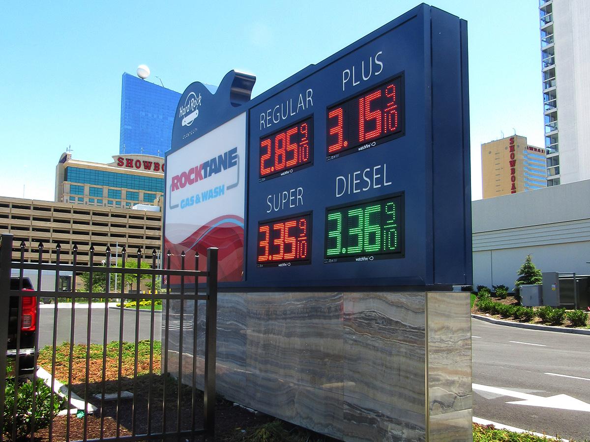 "Rock Stop Gas & Car Wash; 12"" Price Watchers, Atlantic City, NJ"