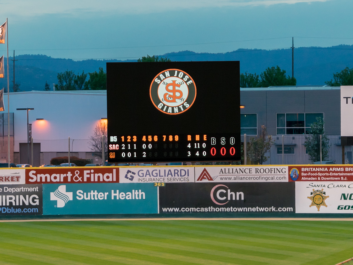San Jose Giants' New Video Display