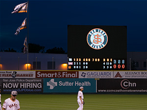 San Jose Giants Video Display