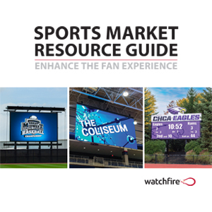 Sports market brochure cover
