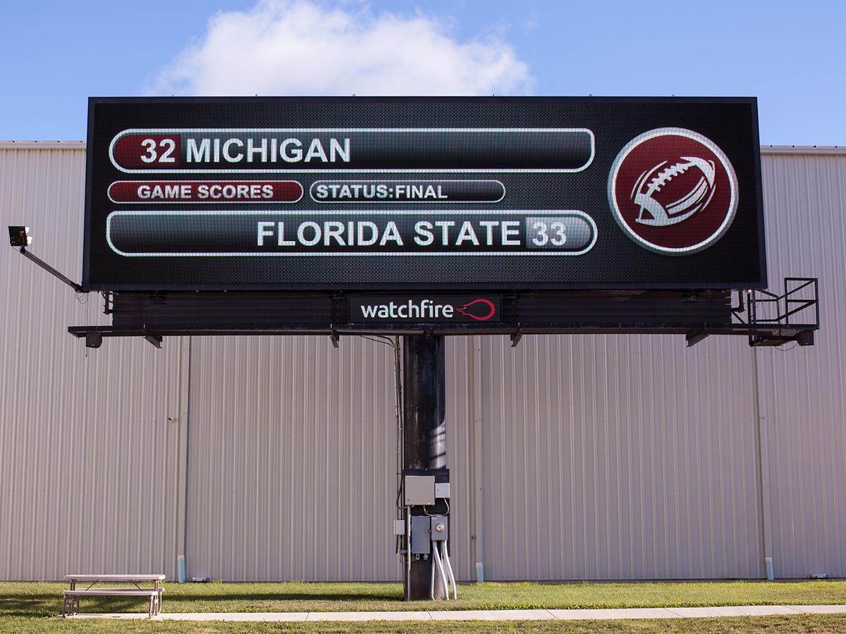 College Football Widget - Digital Billboard