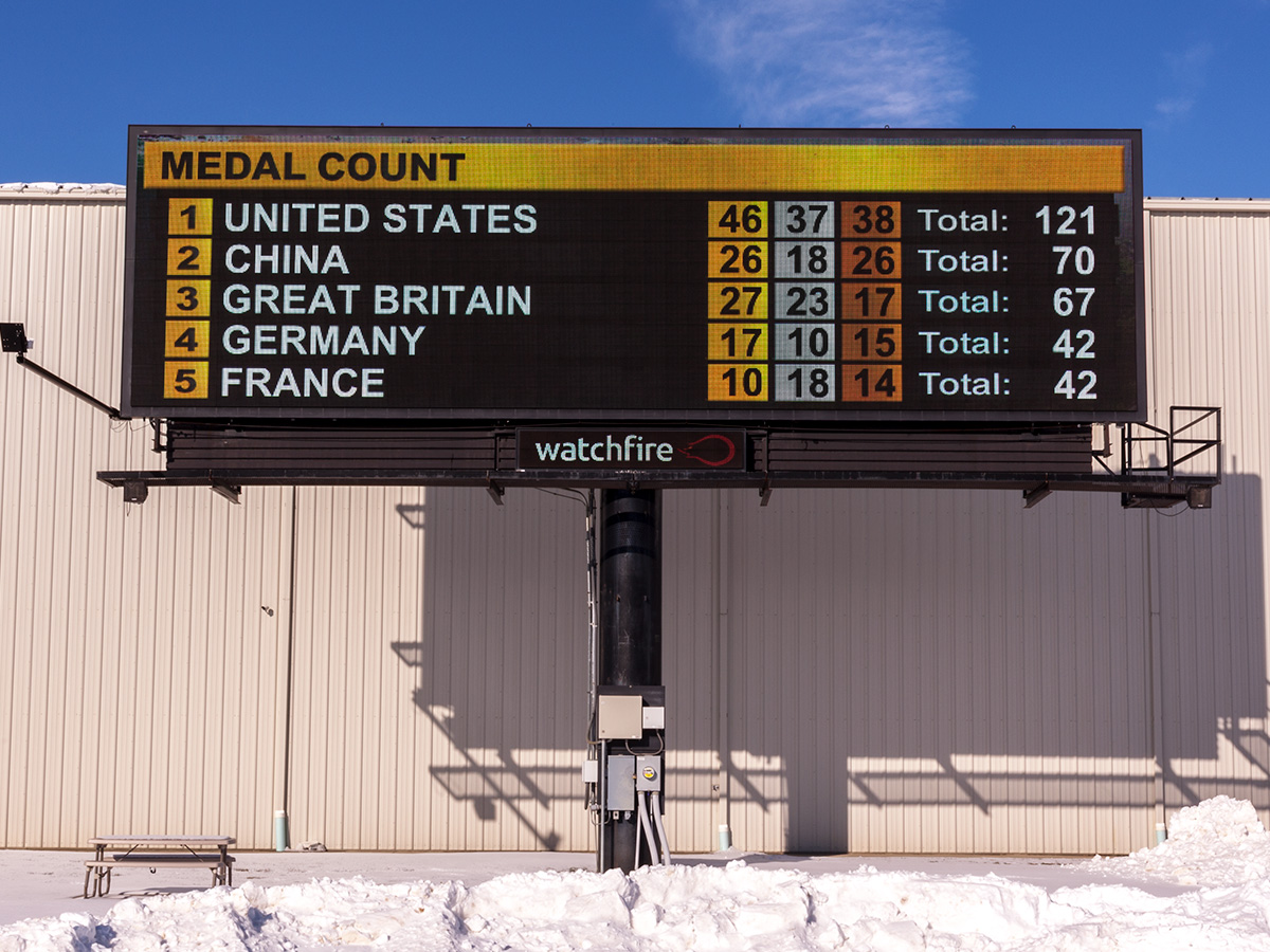 Medal Count Widget - Watchfire Digital Billboard