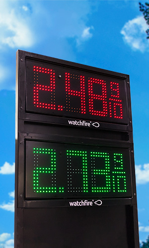 8 inch Price Watcher gas sign