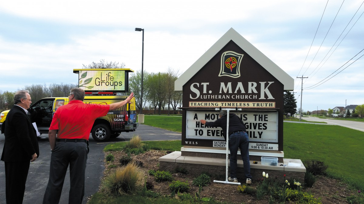 Find a local sign company for access to LED sign pricing and onsite demonstration.