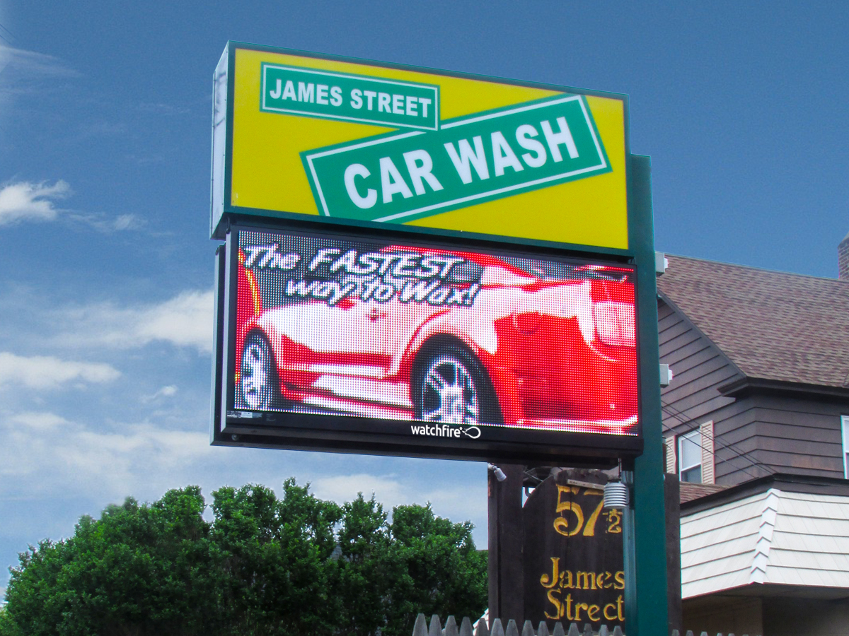 "James Street Car Wash; 12mm, 3'5"" x 7'3"""