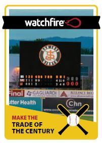 Watchfire video board in baseball stadium.