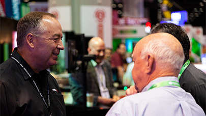 Customers speak with Watchfire territory managers at the ISA Sign Expo.
