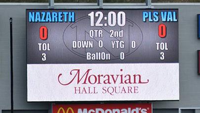 Nazareth High School uses a Watchfire video display for their football scoreboard.