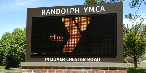 Monochromatic digital signs are a low-cost alternative to full-color LED signs.