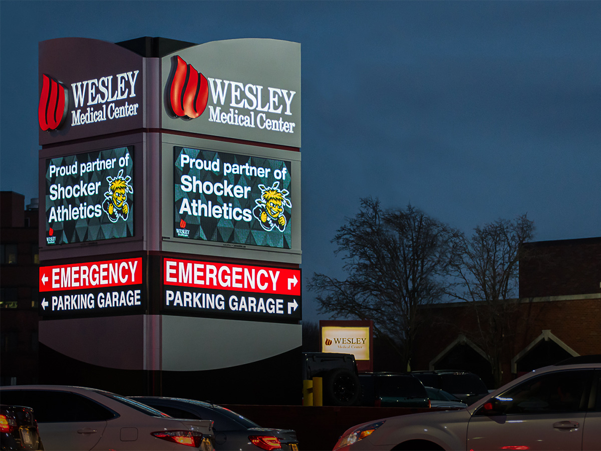 Led signs for hospitals pharmacies clinics watchfire - Interior car detailing wichita ks ...