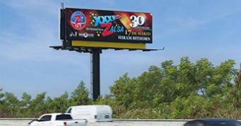 Digital billboard manufactured by Watchfire Signs.