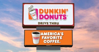 Watchfire supplies digital signs to many large chains like Dunkin Donuts.