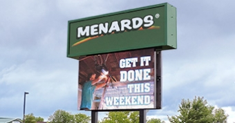 16mm LED sign at Mendards in Eau Claire, WI.