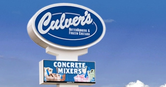 19mm LED sign at Culver's in Portage, WI.