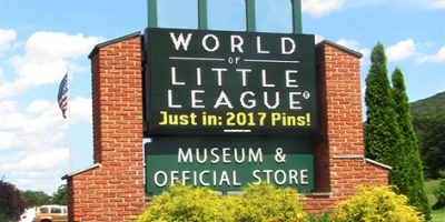 16mm monument LED sign at the Little League Museum in Williamsport, PA.