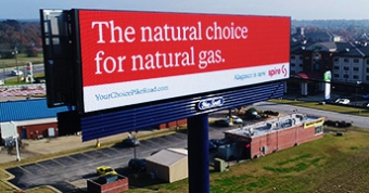 E-16mm digital billboard owned by New South Outdoor in Montgomery, AL.