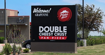 16mm LED sign at Pizza Hut in Grapevine, TX.